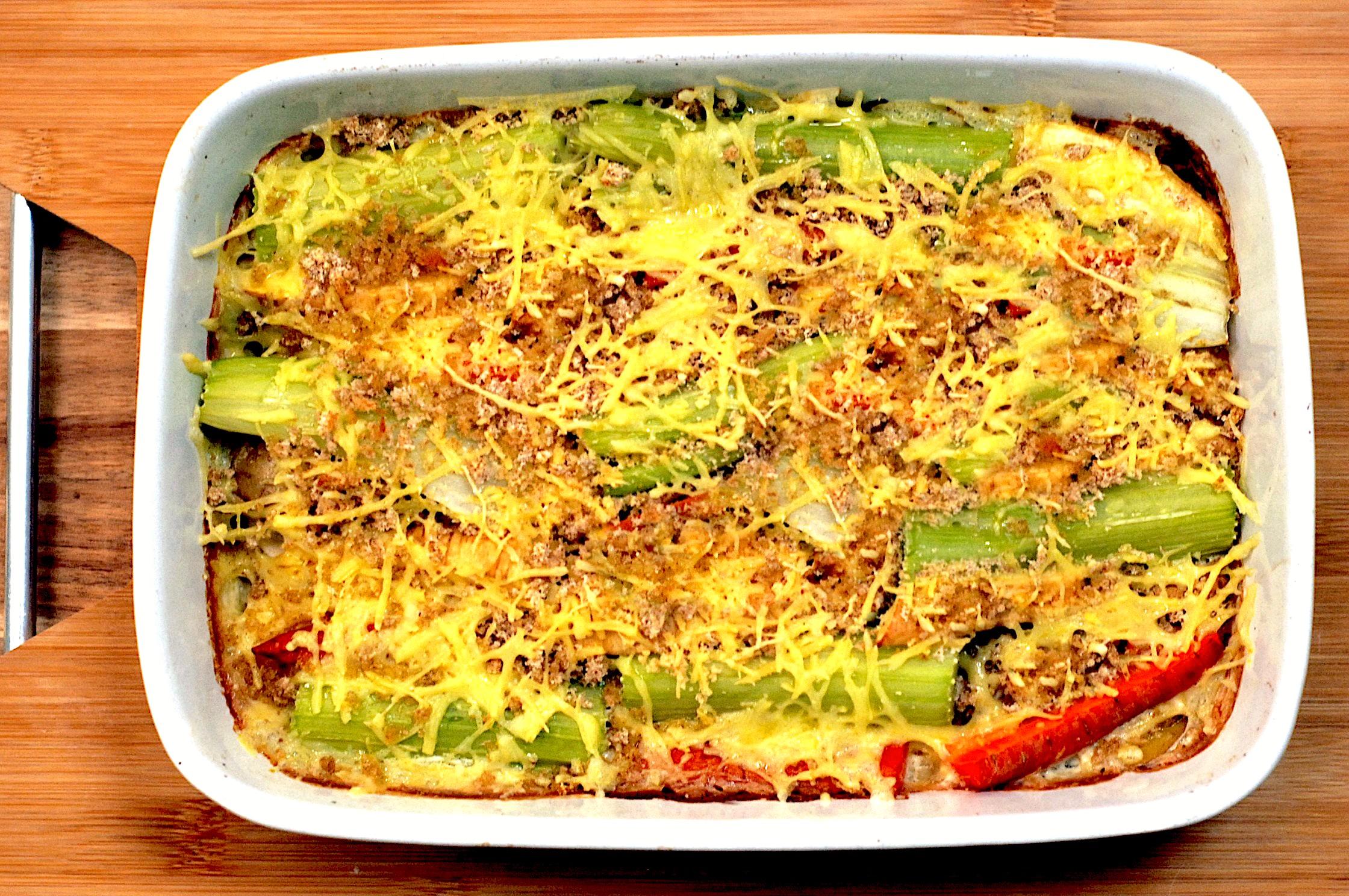 Met vriendelijke groenten